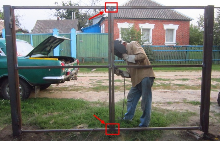 Изготовление ворот своими руками
