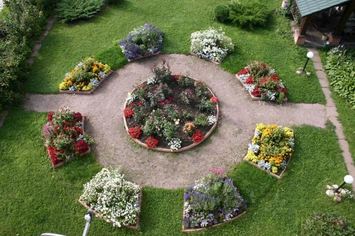 Готовые схемы цветников и клумб для начинающих: 24 тыс