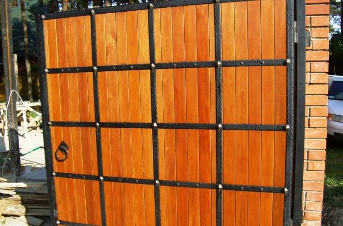 Деревянные ворота своими руками - изготовление и установка!
