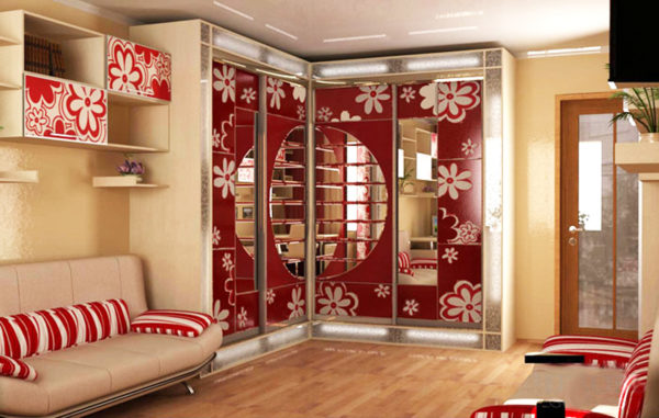 Дизайн шкафа-купе для гостиной фото