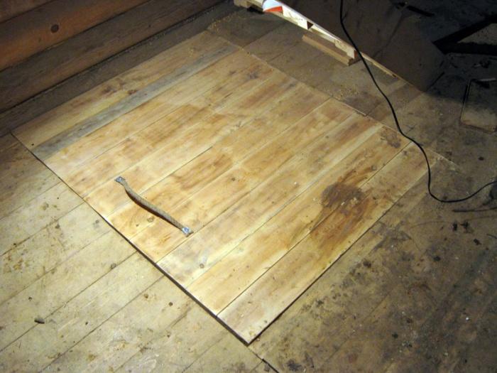 Как в деревянном полу сделать люк в