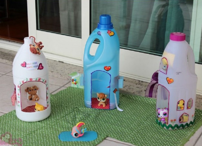 Как сделать игрушки из бутылок своими руками