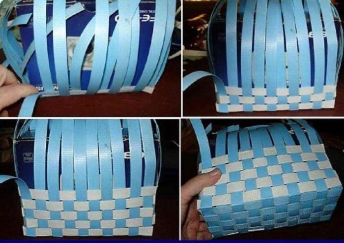Как сделать плетёную корзинку из бумаги своими руками 51
