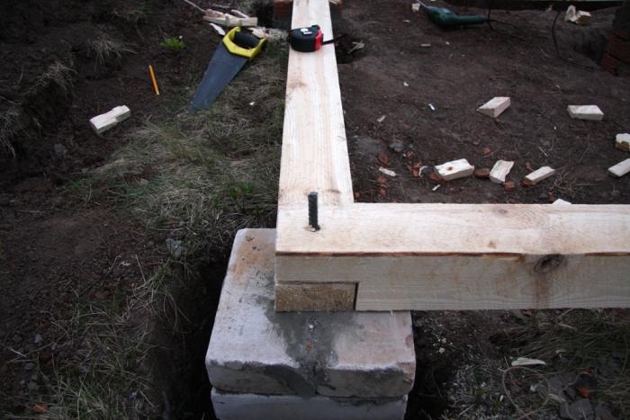 Stolp temelj za verando