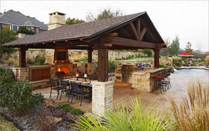 Фото крытая площадка для барбекю в частно куриное барбекю