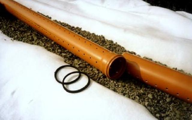 Как сделать дренажную трубу
