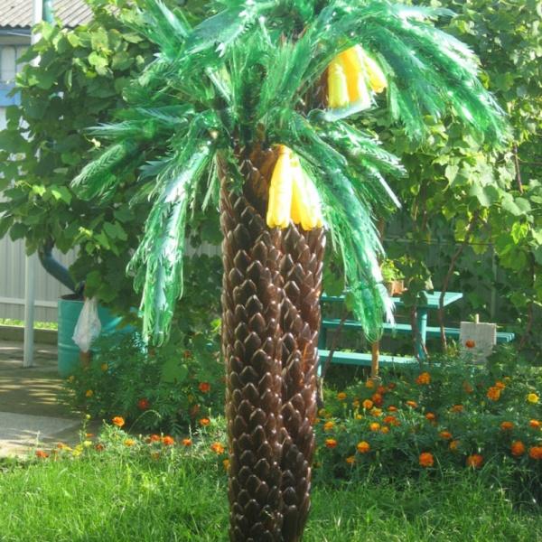 Как сделать пальму из полторашек фото 519