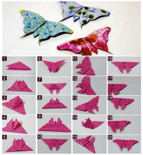 как сделать из бумаги бабочку фото
