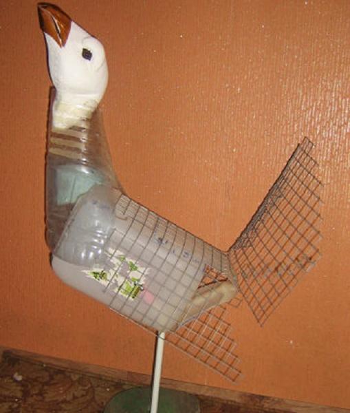 Как сделать птиц из пластиковых бутылок пошагово с