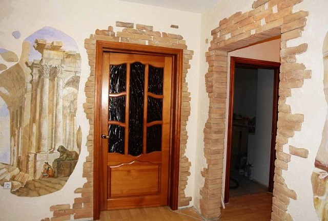 отделка коридора входной двери