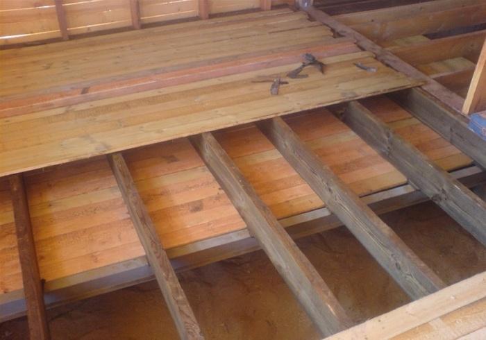 Черновой пол в деревянном доме как сделать