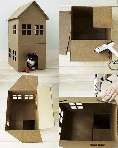 Как сделать дом для паука из коробки 117