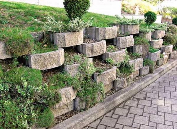 Подпорные стены для террасирования склонов виды и