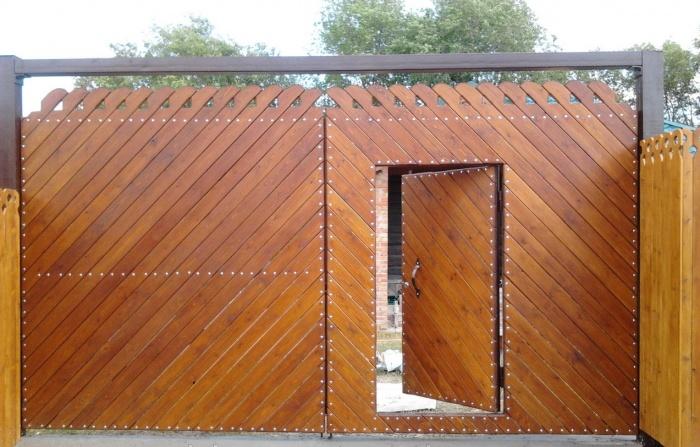 Фото как сделать ворота из дерева
