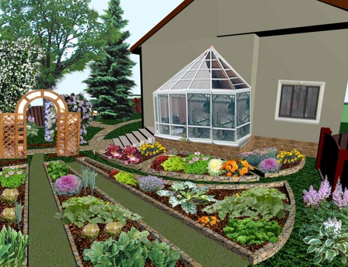 Дизайн огорода своими руками грядки фото 181