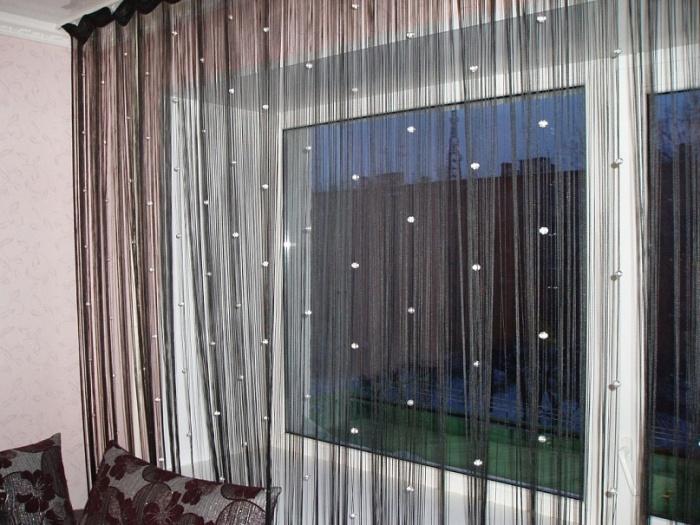 кисея шторы фото в интерьере