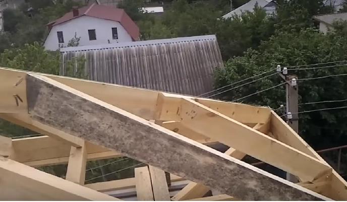 Вальмовая крыша своими руками