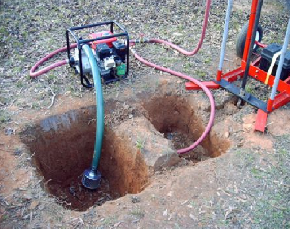 Скважина на воду путем гидробурения
