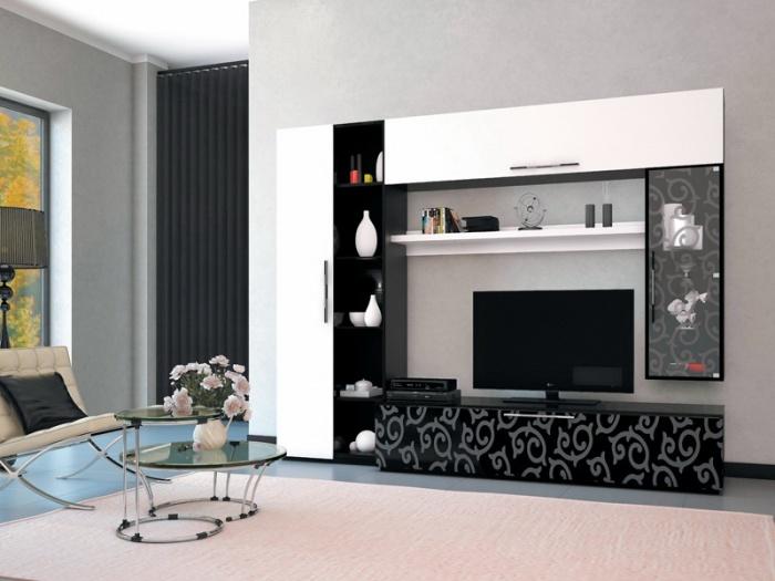 фото модульных стенок в гостиную