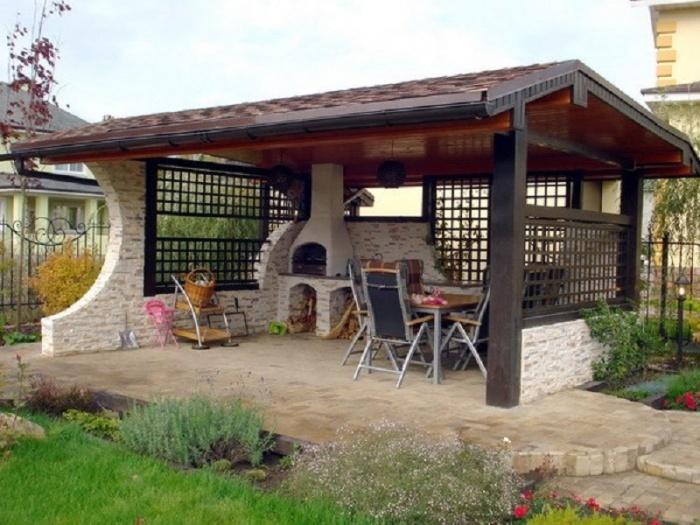 Печь-барбекю в загородном доме проекты фото камин в доме своими руками электрический