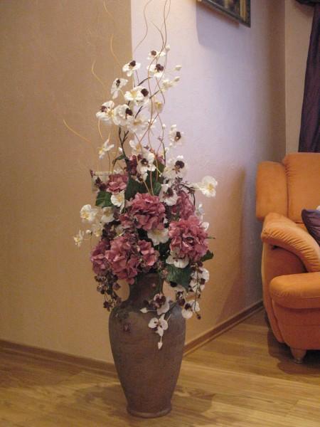 Цветы в вазе своими руками из искусственных цветов 287