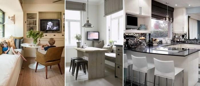 кухне на фото телевизоров