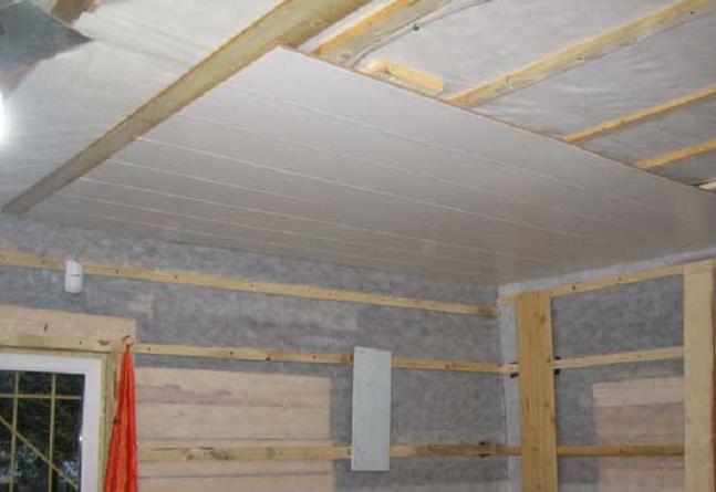 Потолок из панелей пвх своими руками в туалете