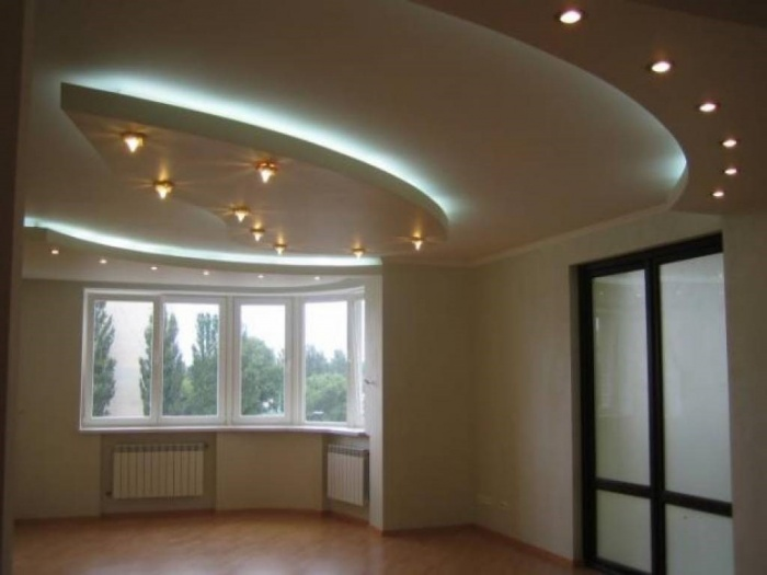 Дизайн многоуровневых потолков фото