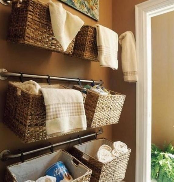 Корзина для белья в ванную плетеная фото