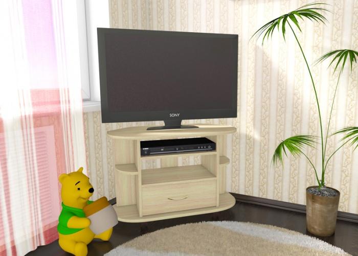 Угловые тумбы под телевизор в интерьере фото