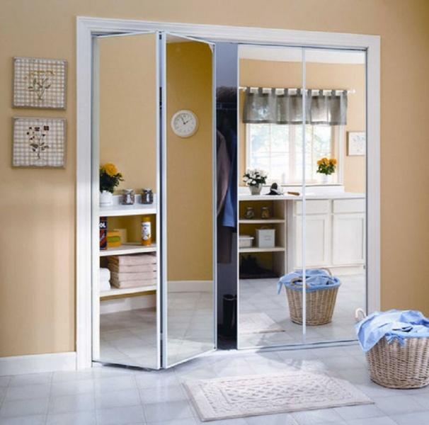 Как сделать двери зеркальными 642