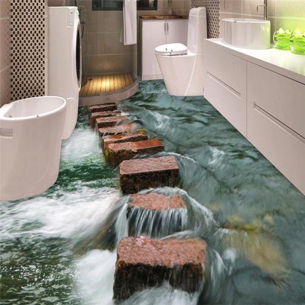 Полимерный наливной пол ванной