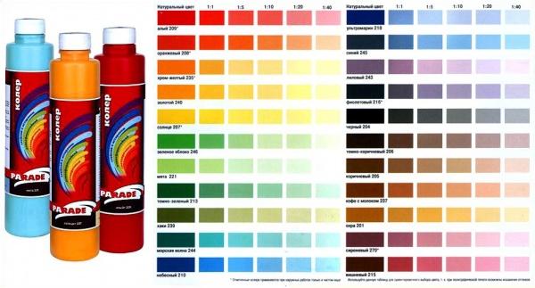 Краски цвета