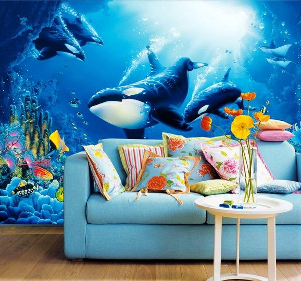 красивые 3д фотообои на стену фото