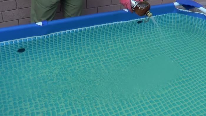 Очистить бассейн перекисью водорода