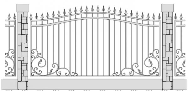 Как сделать узор на заборе 25