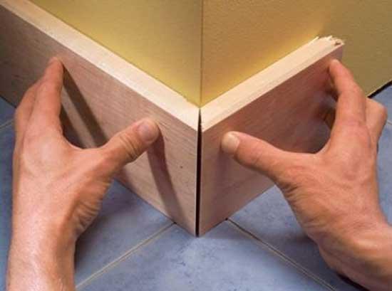 Как правильно сделать угол на стене 170