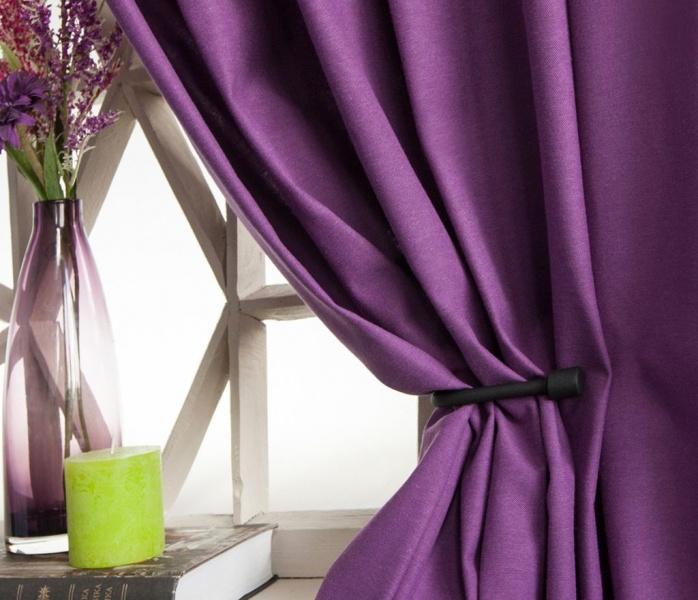 Gordijnen lila voor de woonkamer foto