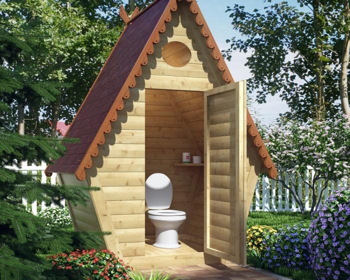 Туалет теремок своими руками чертежи фото 650