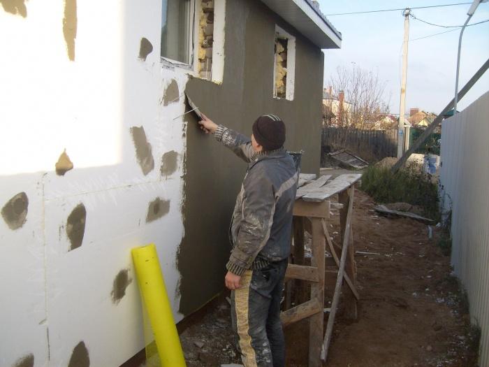 Штукатурка стен пенопластом своими руками