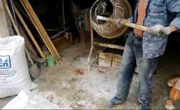 белый цемент своими руками видео