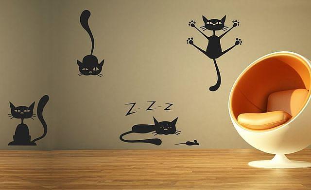 Кошки своими руками на стену