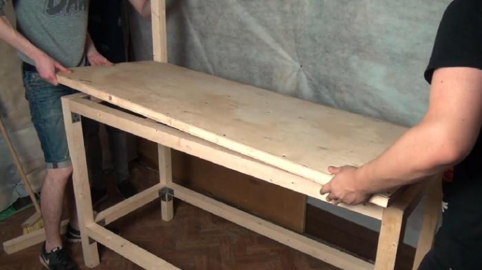 Стол для верстака своими руками 436