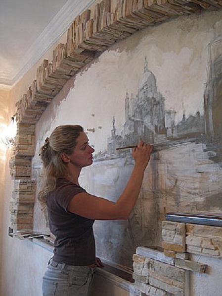 Как сделать картину из венецианской штукатурки 33