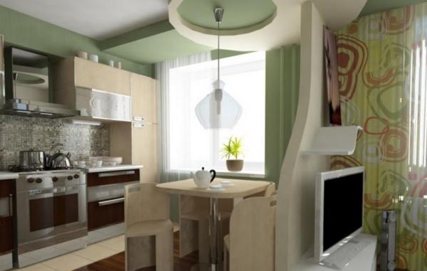 Как совместить зал и кухню