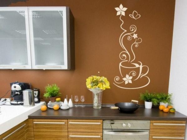 Рисунки для кухни на стену своими руками