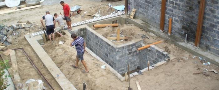 Фундамент для гаража из пеноблока 134