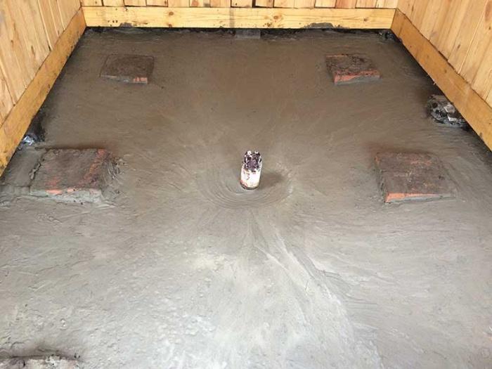 Заливной пол в бане своими руками пошаговое руководство 809