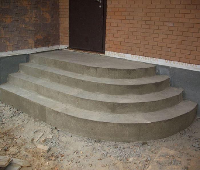 Полукруглые ступени крыльца из бетона своими руками фото 999