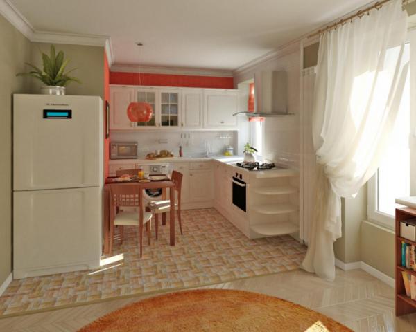 гостиная совмещенная с кухней фото в хрущевке